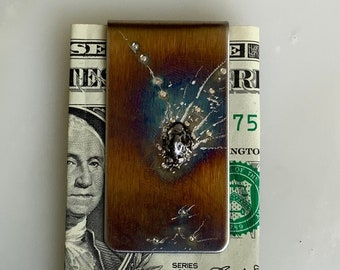 Father's Day Gift - Gift for him - Meteorite Money Clip - dad gifts from kids - Meteorites - gift for men - gifts for dad - step dad gift