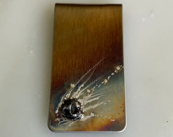Fathers Day GIfts - Money Clip - Meteorite Gift for Men - Meteorite Money Clip - Money Clips - SHIPS NEXT DAY