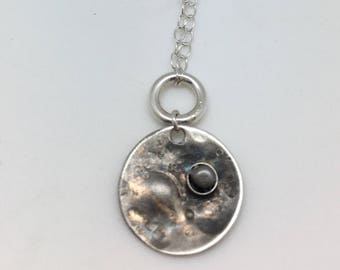 Moon Necklace -  Meteorite Necklace - Science Jewelry - Nerd Gifts Science - Meteorite - Space Pendant Galaxy - Gifts For Science Lovers