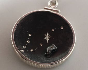 Meteorite Pendant | Gemini Jewelry | Birthstone Necklace | Zodiac Necklace | Astrology Jewelry | Galaxy Pendants | Constellation necklace