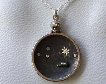 Meteorite Pendant | Aries Jewelry | Outer Space Necklace | Zodiac Necklace | Astrology Jewelry | Galaxy Pendants | Constellation necklace