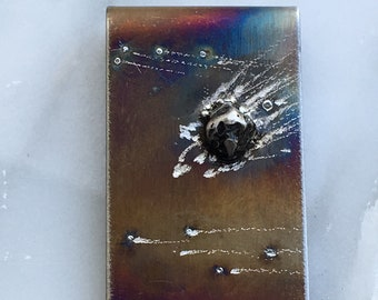 Money Clip - Meteorite Money Clip - Money Clips - Unique Anniversary Gifts for Men- Fathers Day Gift - Ships Next Day