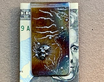 Custom Money Clip | Money Clip- Special Gift For Him - Meteorite Money Clip | Christmas Gifts For Science Geeks