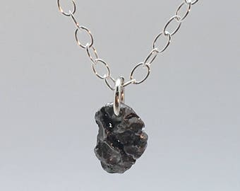 Meteorite necklace - gifts for dad bday - geek bling - universal jewelry - science jewelry - science gifts- celestial jewelry - geeky gift