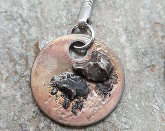 Nerd gifts for him - Meteorite Keychain