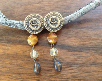 Brown earrings, cheap boho jewelry, boho jewelry cheap, bohemian earrings, bohemian chic jewelry for any occasion FREE SHIPPING!