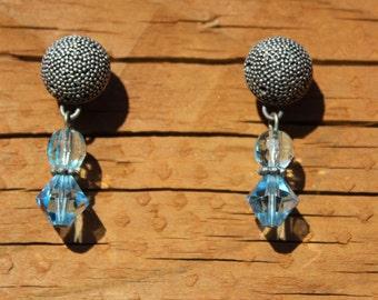 Blue earrings for women - something blue - blue earrings - something blue ideas - turquoise earrings - beaded earrings - something blue gift