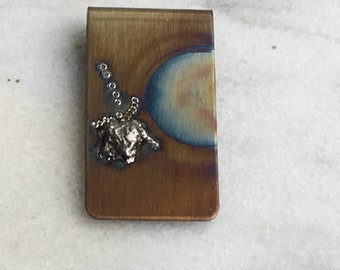 Money Clip- Special gift for him - Meteorite Money Clip