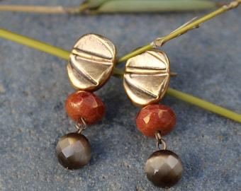 bohemian chic jewelry, Boho earrings, brown earrings, boho jewelry, cheap boho jewelry, boho jewelry cheap, bohemian earrings FREE SHIPPING!