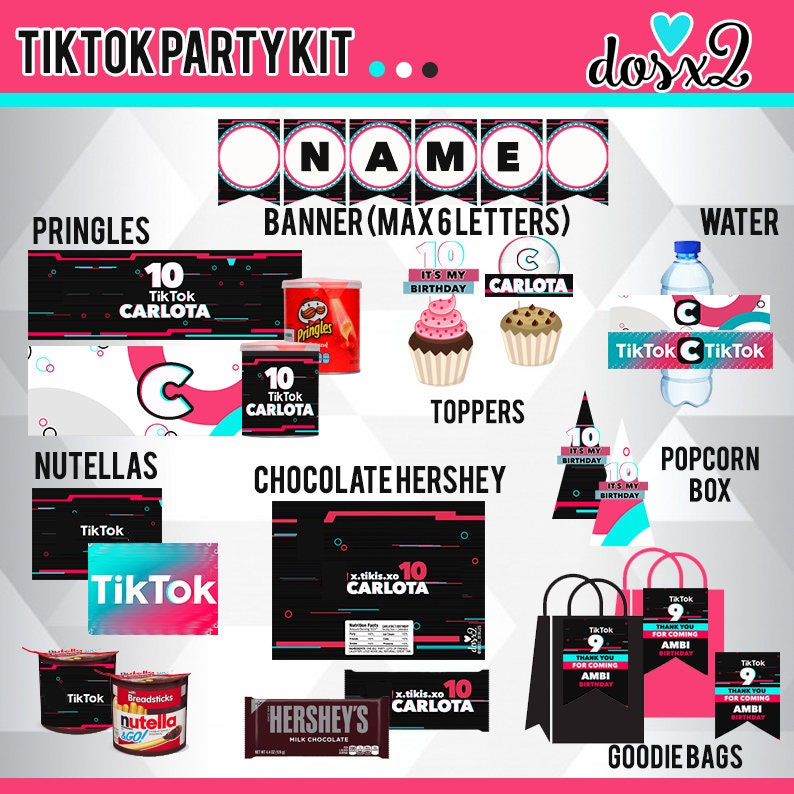 4ffec92f TikTok Party Kit / TikTok Kit de Fiesta | Etsy
