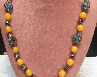 Indian Inspired Necklace/Multi-Gemstone Necklace/Birthday/Mother's Day