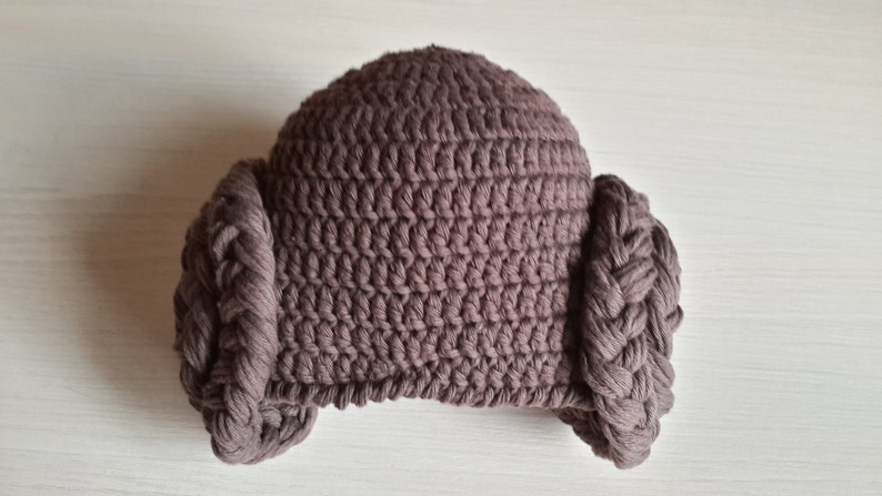 Princess Leia style Crochet baby hat from Star Wars  for image 0