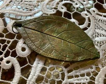 Leaf Shaped Gift Tag/Trinket (oblong/large)