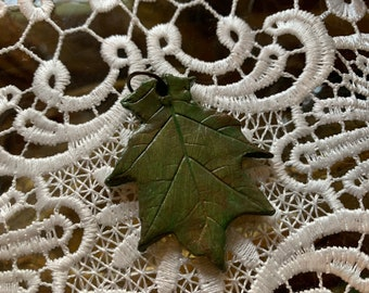 Leaf Shaped Gift Tag/Trinket (oak/small)
