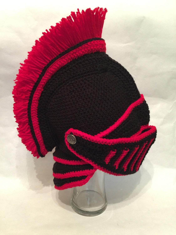 Trojan Black Knight Helmet Crochet Pattern Etsy