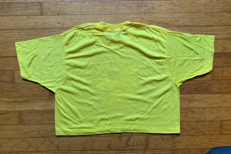 Deadstock Screen Stars Cropped T-shirt Vintage Roller skates Derby Transfer XL