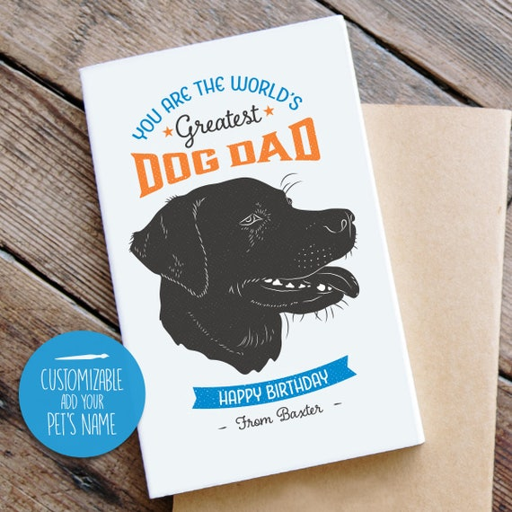 Labrador Birthday Card From Dog Cool Vintage Style