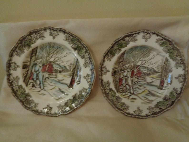 "s Made in England 6 1//8/"" Johnson Brothers Friendly Village: Bread Plate"
