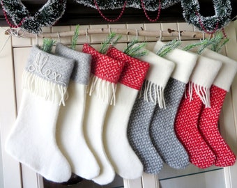 christmas stocking wool personalized christmas stockings in handmade family christmas stockings wool christmas decor christmas gift