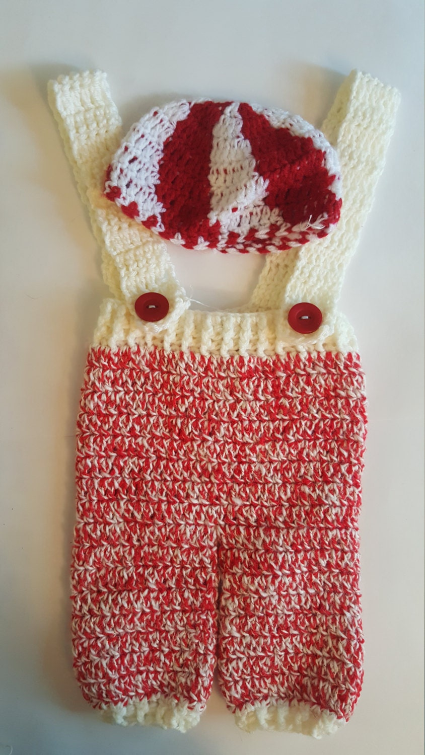 Peppermint Swirl Baby Pant And Hat Set Crocheted Pants And Hat Set