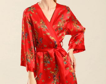 417a5299fa06 Red silk robe