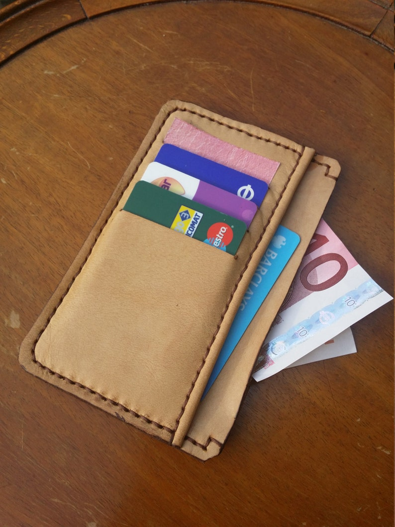 Womens wallet Leather Mens Wallet Mens Wallet Handmade and Hand stitched in Genuine Leather. Minimal wallet for men Minimal wallet