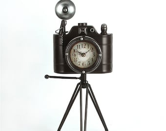 repurposed antique camera clock Camera Clock Recycled Kodak Brownie Bullseye photographers gift unique vintage gift film buff gift upcycled Christmas gift