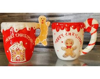 Gingerbread mug,Christmas mugs,Christmas decor,Novelty mugs,Gifts for christmas,unique gift,gifts for mug,santa mug,Secret Santa,Festive Mug