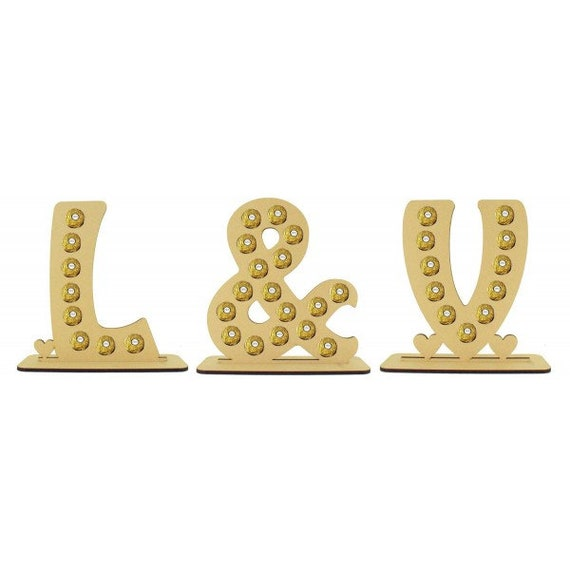 Ferrero Rocher Confiserie Lettre Mariage Centre Pièce Occasion Support Anniversaire