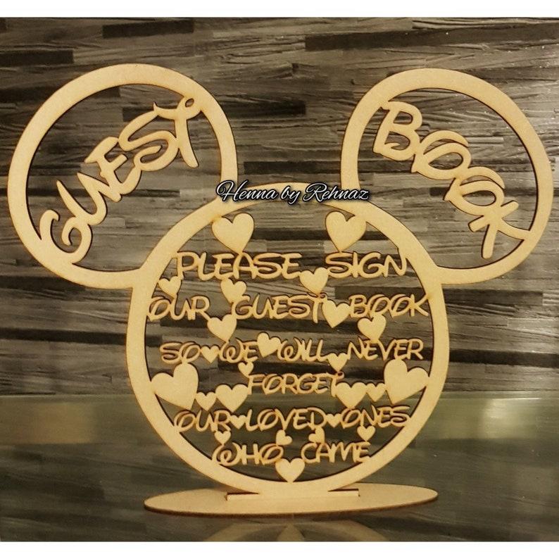 Disney souris tête invité livre Insturuction citation signe | Etsy