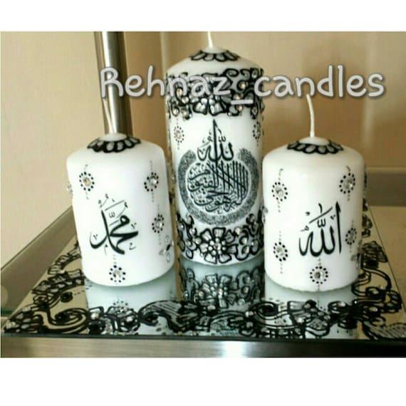 Islamic Henna Candle Set Muslim Decor Eid Giftsislamic Etsy