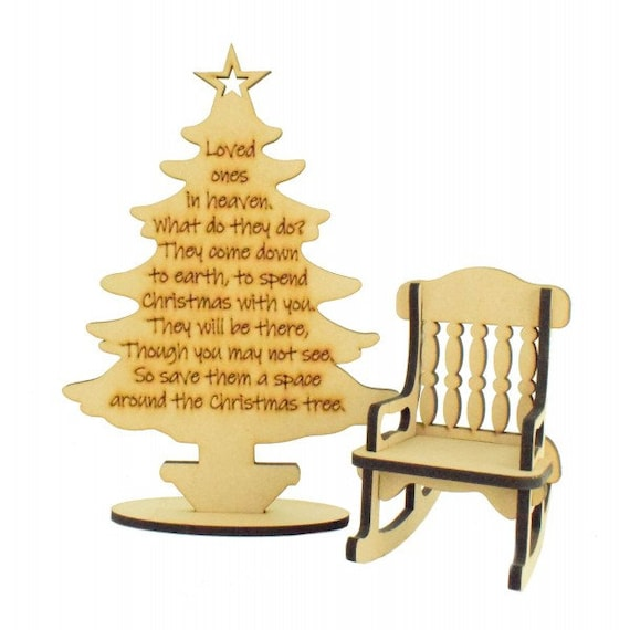 Terrific Loved Ones In Heaven Christmas Tree With Rocking Chair Christmas Decor Christmas Decor Xmas Ts Room Decor Memorial Christmas Chair Machost Co Dining Chair Design Ideas Machostcouk