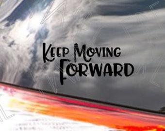 Keep Moving Forward - Meet the Robinsons - Walt Disney Quote - Vinyl Decal - Window Sticker - Laptop Decal - Car Decal