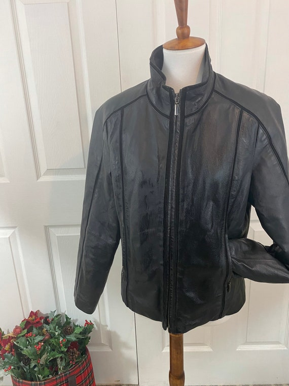80s Black Leather Jacket