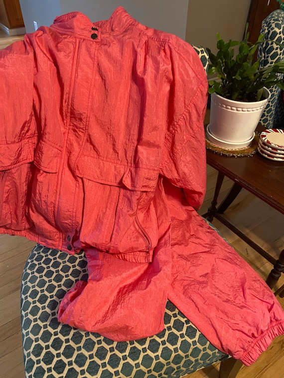 80s Pink Jump Suit