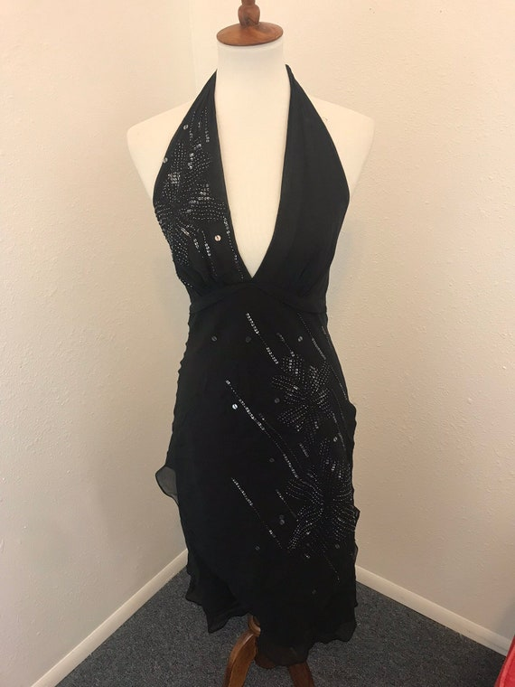 Sheer Black Dress with Sequence