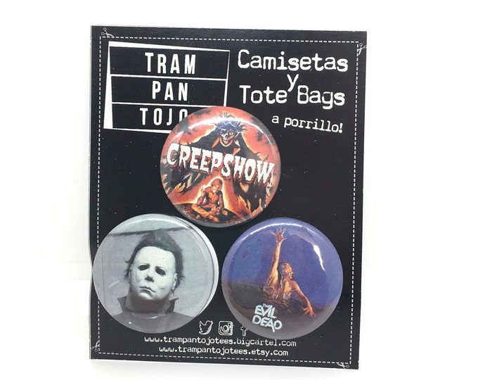 Favorite Terror Film Badge - Creepshow - Michael Myers - Evil Dead