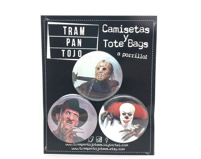 Terror Film Badge - Pennywise - Freddy - Jason