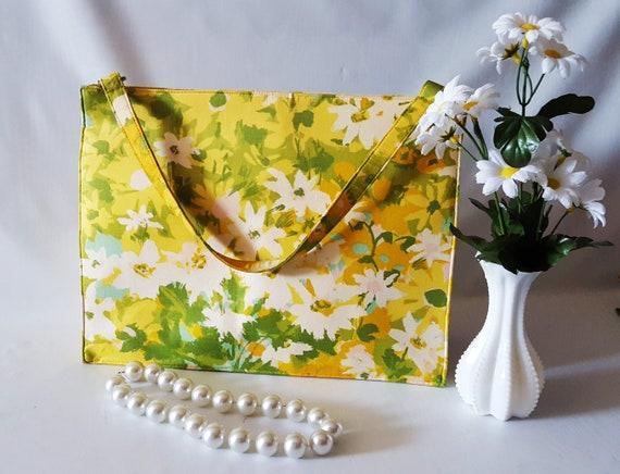 Vintage Floral Handbag, Margaret Smith, Structured