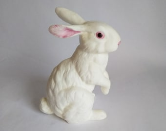 Vintage Andrea by Sadek Porcelain Bisque Rabbit Statue c82c7d606