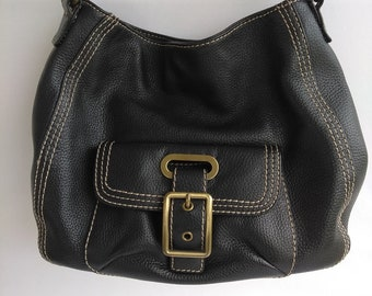 a7e7afd24aa2 St. Johns Bay Black Leather Shoulder Bag