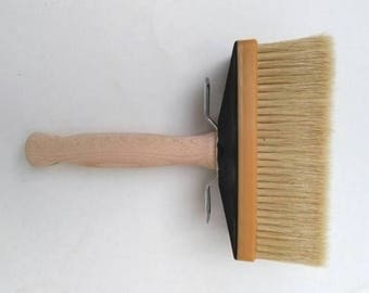 "6"" x 2""Italian Pure Bristle Large Block Brush 60 x 150 mm Wooden Handle. Paint Brush, Glaze Brush, Hog Hair Block Brush, Faux Brush"