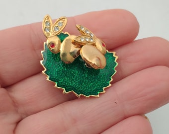 Gold Brooches and Pins Tiny Rabbit Brooch Easter Gift Gift for Women Woodland Jewelry TINY RABBIT BROOCH Miniature Rabbit Brooch