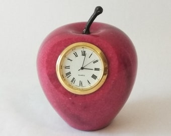 apple clock etsy rh etsy com
