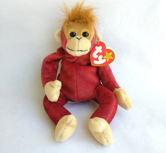 "Ty Beanie Baby Schweetheart Plush 5/"" Orangutan Stuffed Animal Retired Tag 1999"