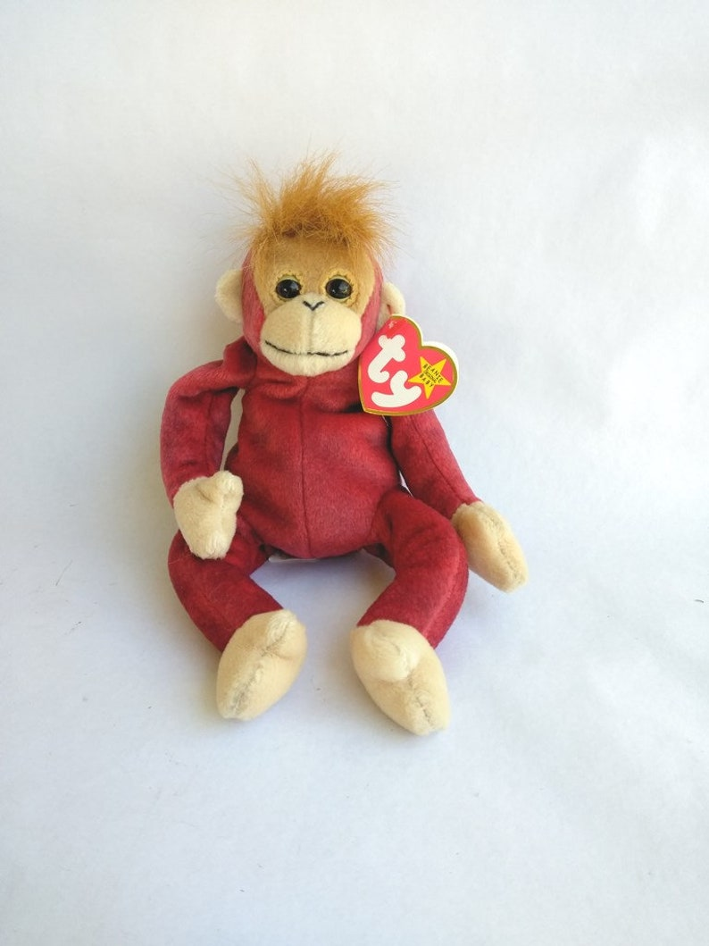 34e9f708fc7 TY Beanie Baby Schweetheart The Orangutan January 23 1999