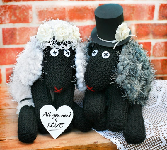 Romantisches Geschenk Für Das Paar Handgefertigte Schäfchen Handgefertigte Paar Mit Herz Hochzeit Geschenk Herr Und Frau Land Hochzeit Dekor