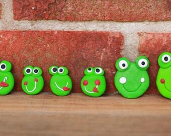 Fridge magnet, Frog magnet, Handmade animal, Animal sticker, Little handmade gift, Animal magnet
