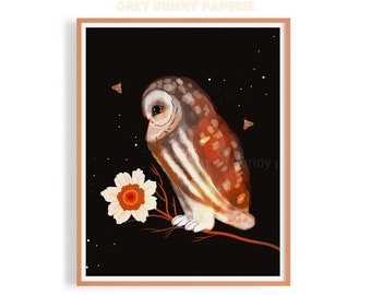 Side Owl Print