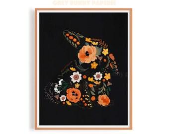 Bunny of Flowers Print